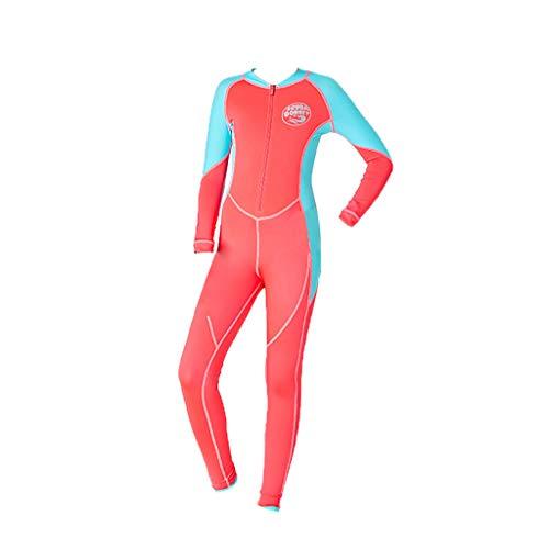 - CapsA Neoprene Swimsuit Girls Boys Kids Wetsuit Snorkeling Jumpsuit Short Sleeve Diving Suit Orange
