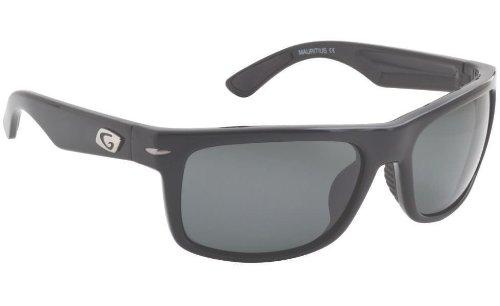 Guideline Eyegear Tidal Sunglass, Shiny Black Frame, Deepwater Gray Polarized Lens, - Sunglasses Guideline Polarized