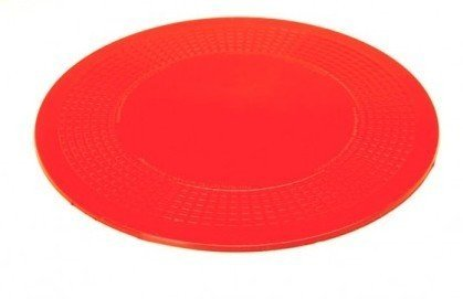 Dycem Non-Slip 8-1/2 Inch Circular Pad by Aids to Daily Living in Red - 50-1597R