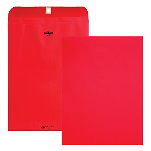 nvelopes, 9 x 12 inches, Red, Pack of 10 (38734) ()