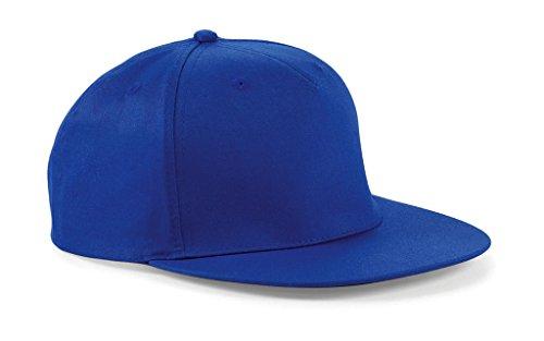 Beechfield - Gorra/Visera diseño Rapero/Rapper/Hip Hop/NBA 5 Paneles Modelo Retro Bleu roi-