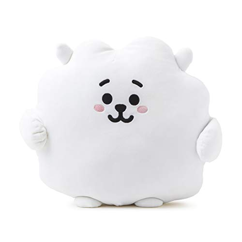 BT21 Official Merchandise by Line Friends – RJ Character Pong Pong Cushion 11.8 Inches