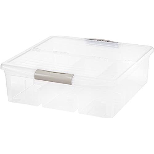 IRIS Large Media Storage Box, 3 Pack, Clear