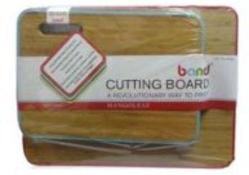 MangoLeaf Bamboo Cutting Board with Silicone Band (Set of 2)