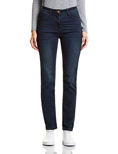 Black Used Cecil 10770 Jeans Straight Donna Blue Blau Wash zOz7xUw