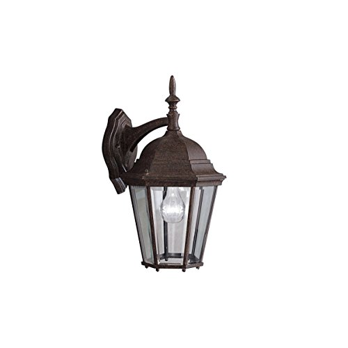Kichler Lighting 9655TZ Madison - One Light Outdoor Wall Bracket, Tannery Bronze Finish with Clear Beveled Glass