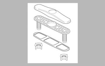 Delta Faucet RP70707SS Berkley Escutcheon, Plate, and Nuts, Stainless