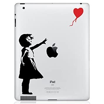 GADGETS WRAP Apple iPad Mini 1 2 3 4 Back Skin Decal   Banksy Girl Tablet Accessories
