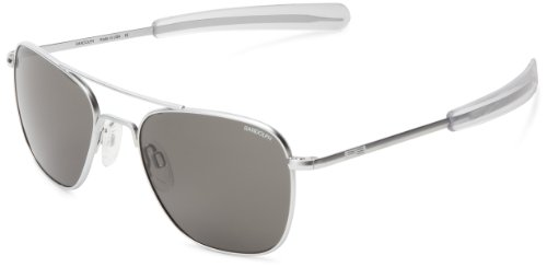 Randolph Aviator Square Sunglasses, 58, Gun Metal, Bayonet, Gray - Randolph Sun Glasses