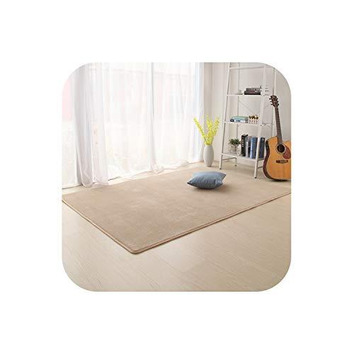 Fun-Store Camo Fleece Solid Color Carpet for Living Room Kitchen Bathroom Kids Room Pad Anti-Skid Machine Wash ()