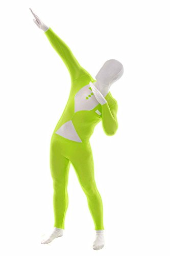 [Morphsuits Fluro Tux Green XL, Green / White, X-Large] (Green Morphsuit)