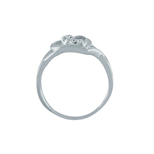 Giantti 14carats Diamant pour femme Collier Pendentif cœur (0.048CT, VS/Si-clarity, Gh-colour)
