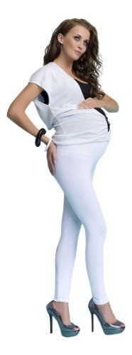OssaFashion Comfy Maternity Cotton Front Panel Over Bump Full Ankle Length Leggings