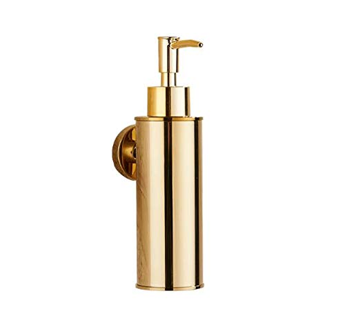 TACCY Bathroom Kitchen Stainless Steel Soap Lotion Dispenser in Gold Wall Mounted