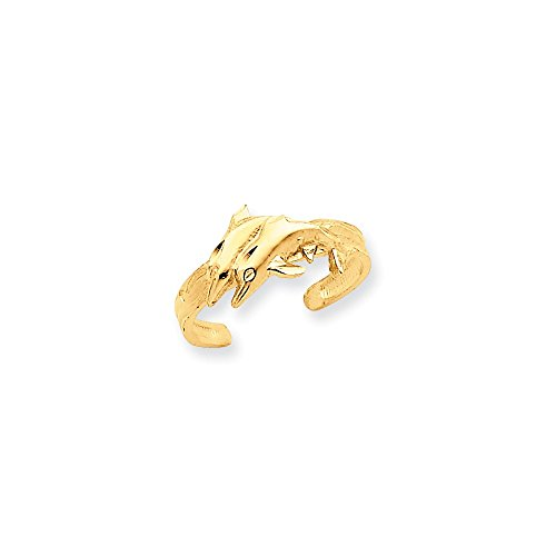 14K Dolphin Toe Ring by CoutureJewelers