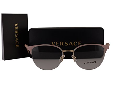 Versace VE1247 Eyeglasses 52-17-140 Matte Pink w/Demo Clear Lens 1407 VE - Sale Versace Eyeglasses