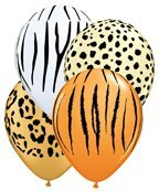 Safari Print Zebra Leopard Tiger Cheetah Print Latex Party S