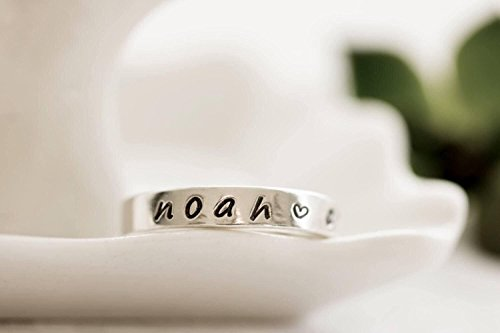 Personalized Mothers Day Gift, Name Ring For Mom,