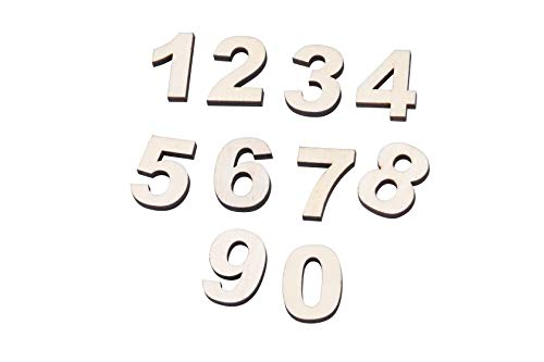 I-MART 50 PCS Wooden Numbers for -
