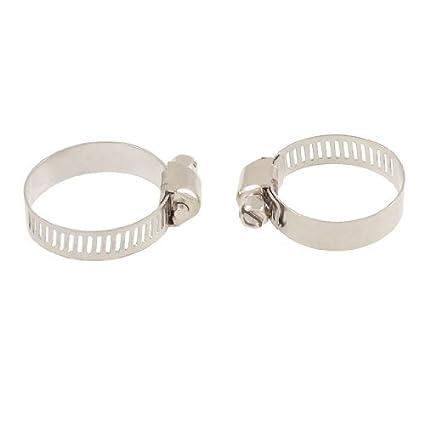 eDealMax 2 piezas de plata del acero inoxidable abrazaderas ...