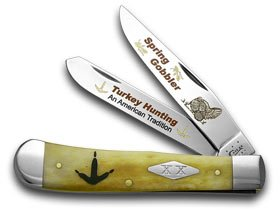 Gobbler Spring - CASE XX Antique Bone Spring Gobbler Turkey Hunting 1/600 Trapper Pocket Knife Knives