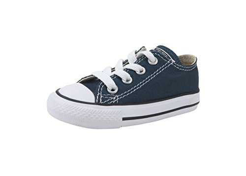 Converse Boys/Girls Shoes All Star Lo Top Navy Blue Infant/Toddler Sneakers 7J237 (6)