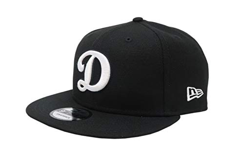 New Era 950 Los Angeles Dodgers Basic D Logo Snapback Hat (BK/WH) Men's Cap