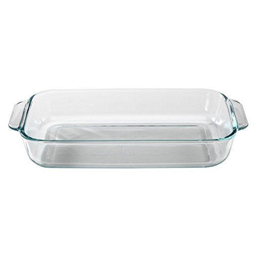 Pyrex Basics 2 Quart Glass Oblong Baking Dish, Clear 11.1 in. x 7.1 in. x 1.7 in.