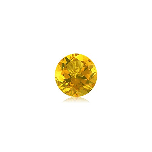 Mysticdrop 0.35-0.50 Cts of 5 mm AA Round Loose Yellow Beryl (1 pc) Gemstone