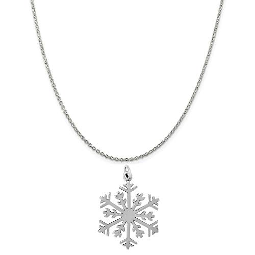 Annual Sterling - Raposa Elegance Sterling Silver Snowflake Charm on a Sterling Silver 20