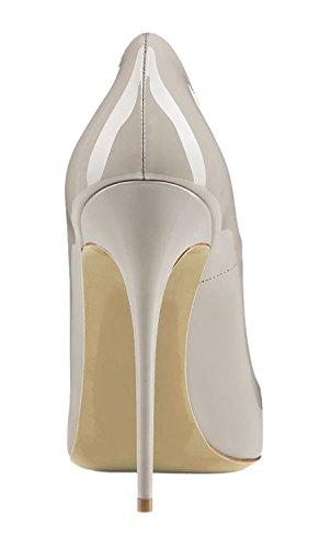 Scarpe Spillo grigio Scarpe da 12CM A Donna Heels Tacco Donna Scarpe High Classico Tacco Donna a EDEFS col RS6T8x