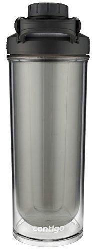 Contigo Shake & Go Fit Double-Wall Twist Lid Shaker Bottle, 24 oz, Black