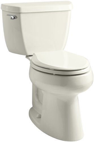 Kohler K-3658-96 Highline Classic Class Five Comfort Height Toilet with Left-Hand Trip Lever, Biscuit