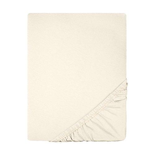 Spannbettlaken Jersey Baumwolle | viele Farben alle Größen | Spannbetttuch für Standardmatratzen | 140 x 200 bis 160 x 200 CelinaTex 0002795 Lucina natur