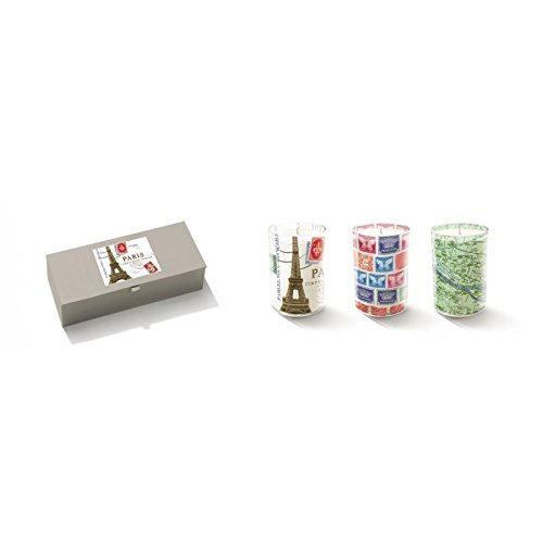 Fringe Mini Paris Candle Set of Three Candles in Gift Box