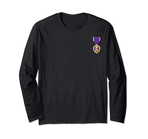 Purple Heart T-shirt US Military Purple Heart of Veteran (Military Of The Heart)