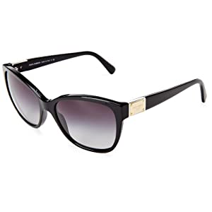 D&G Dolce & Gabbana 0DG4195 501/8G56 Butterfly Sunglasses,Black,56 mm