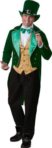 InCharacter Costumes Men's Lucky Leprechaun Costume, Green/Gold/White, X-Large