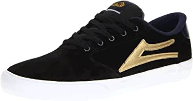Lakai Men's Pico Skate Shoe,Black/Gold Suede,14 M US