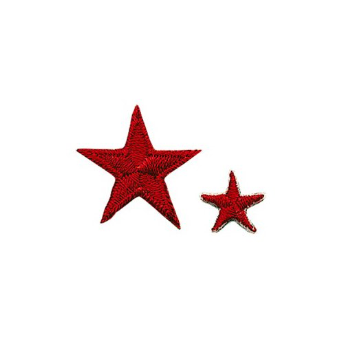 Achievement Star Patch - Red - 1/2