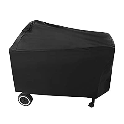 SunPatio Outdoor Heavy Duty Waterproof Grill Cover for Weber Performer Premium and Deluxe 22 Inch Charcoal Grill, UV Resistant Barbecue Cover, Compared to Weber 7152, All Weather Protection, Black
