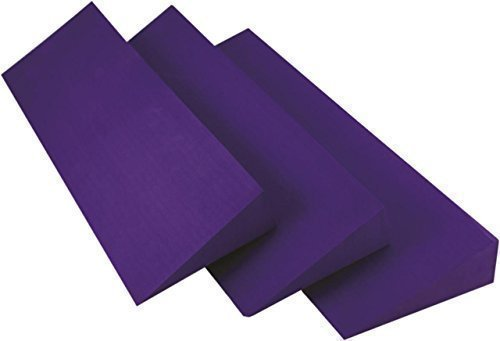 Yoga-Mad Fitness Workout & Training Wedge 500mm x 150mm x 50mm Purple by Fitness Mad