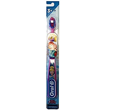 Oral-B NEW Princess Toothbrush for Little Girls, Children 3+, Extra Soft, Characters Vary - Pack of 6