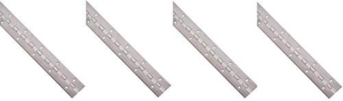 4' Steel Hinge Pin - Stainless Steel 304 Continuous Hinge with Holes, Unfinished, 0.06
