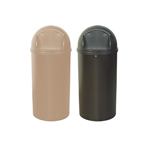 Rubbermaid RUB146 Brown Domed Waste Receptacles, 25 gallon