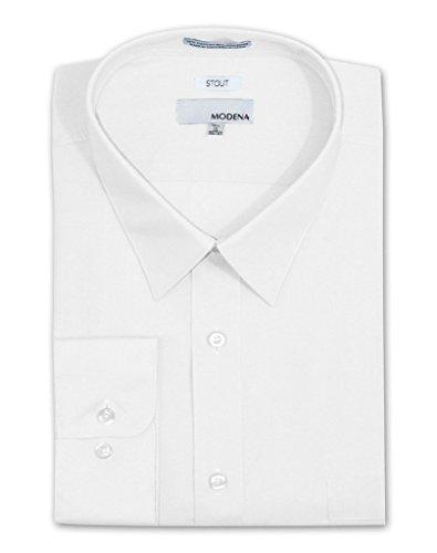 [Modena M300XFBR Men's Stout Fit Dress Shirt - White - 19 6-7] (Sexy Fancy Dress Men)
