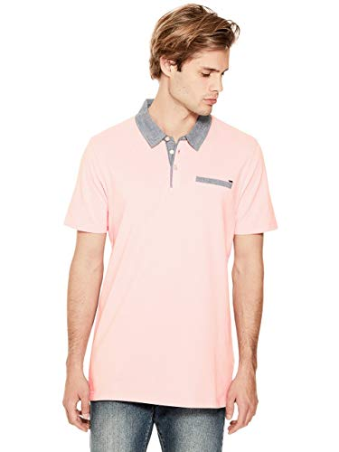 GUESS Factory Men's Dennis Chambray-Trim Polo ()