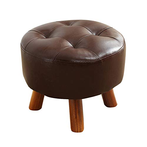 Yzdz Luxury Round Footstool Sofa Change Shoes Stool Upholstered Ottoman and Pouffe Footrest Children