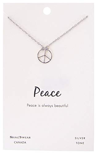 - Shag Wear Peace Hope and Balance Inspirations Quote Pendant Necklace (Balance Bar, Pendant)