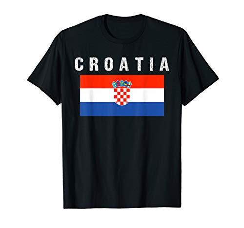 Croatia Hrvatska Soccer Flag T-Shirt Croatian Fan Gift Tee